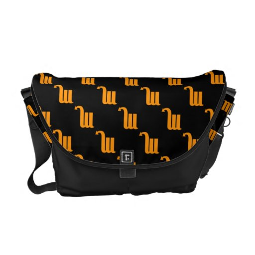 Scorpio Pattern Orange Courier Bags
