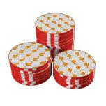 Scorpio Pattern Orange Poker Chips Set