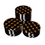 Scorpio Pattern Orange Set Of Poker Chips