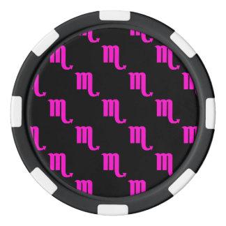 Scorpio Pattern Pink Poker Chip Set