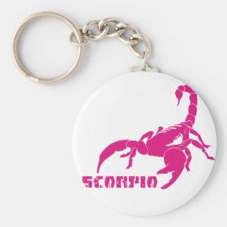 Scorpio - Pink Key Chain