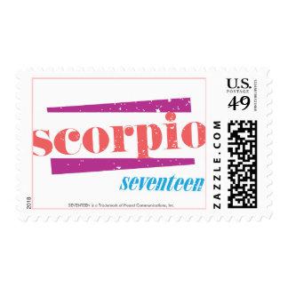 Scorpio Pink Postage Stamp