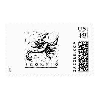 Scorpio Postage Stamp