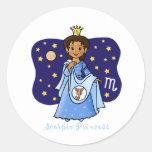 Scorpio Princess Round Sticker