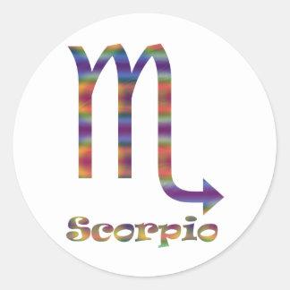 Scorpio Psychedelic Round Stickers
