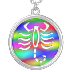 Scorpio Rainbow Color Scorpion Sterling Silver Silver Plated Necklace at Zazzle