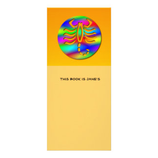 Scorpio Rainbow Color Zodiac Scorpion Bookmark Rack Card