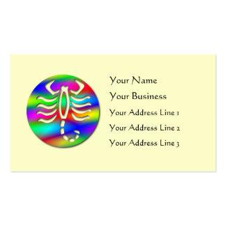 Scorpio Rainbow Color Zodiac Scorpion on Yellow Business Card