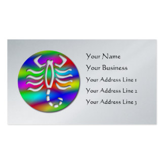 Scorpio Rainbow Color Zodiac Scorpion Platinum Business Card