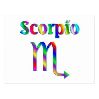 Scorpio Rainbow Postcard