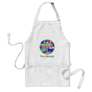 Scorpio Rainbow Zodiac Scorpion Crafts & Chef Cook Adult Apron