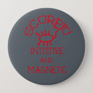 Scorpio (Red Text) Pinback Button