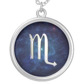 Scorpio Round Pendant Necklace