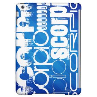 Scorpio; Royal Blue Stripes iPad Air Cover