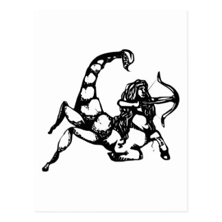 """Scorpio & Sagittarius """"Cusper"""" Postcard"""