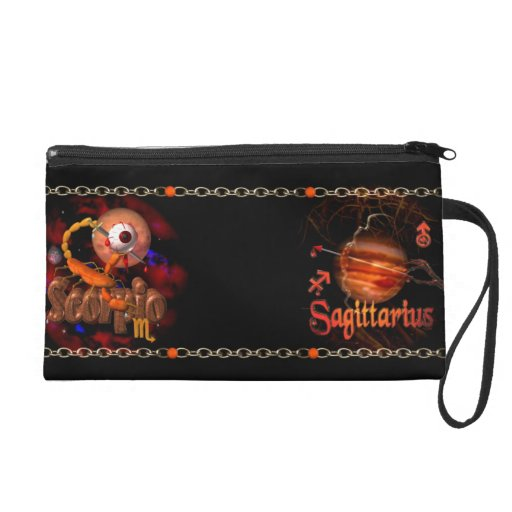 Scorpio Sagittarius zodiac Cusp or 2 sign Wristlet Purses