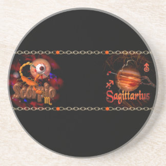 Scorpio Sagittarius zodiac Cusp or 2 sign Drink Coaster
