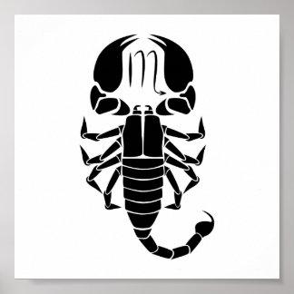 scorpio scorpion astrology zodiac horoscope poster