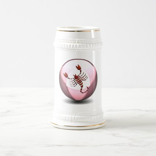 Scorpio Scorpion Beer Stein Coffee Mugs