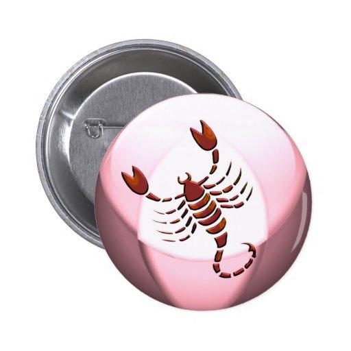 Scorpio Scorpion Round Button