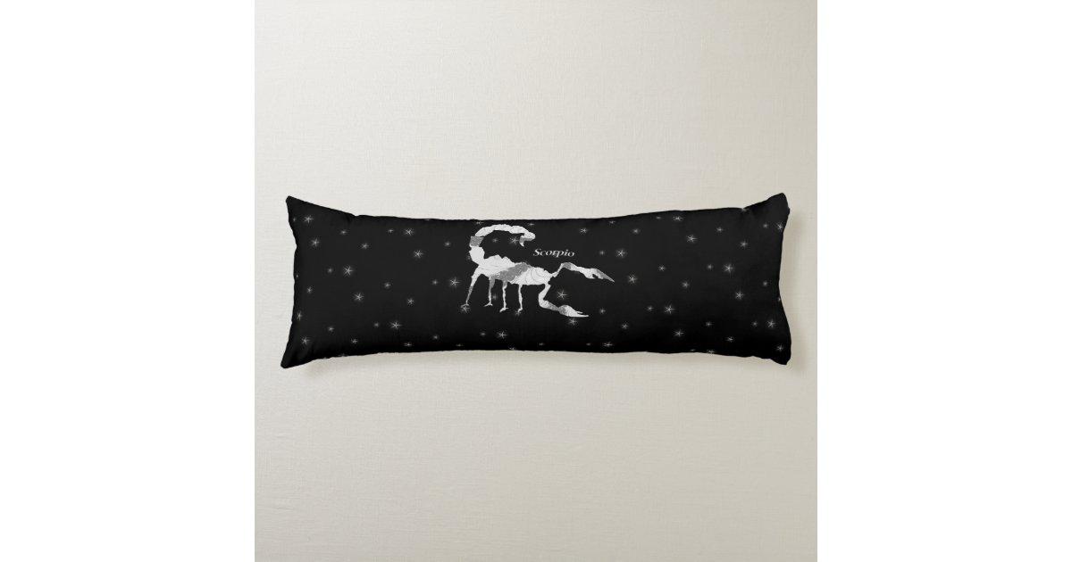 Scorpio Scorpion Zodiac Design Black Body Pillow Zazzle Com