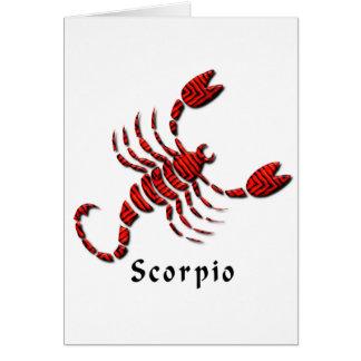 Scorpio Sign Greeting Card