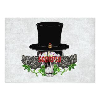 Scorpio Skull 5x7 Paper Invitation Card