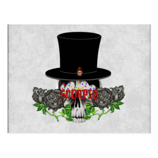 Scorpio Skull Postcard