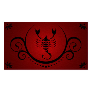 scorpio sophistications business card template