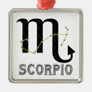 Scorpio Square Metal Christmas Ornament