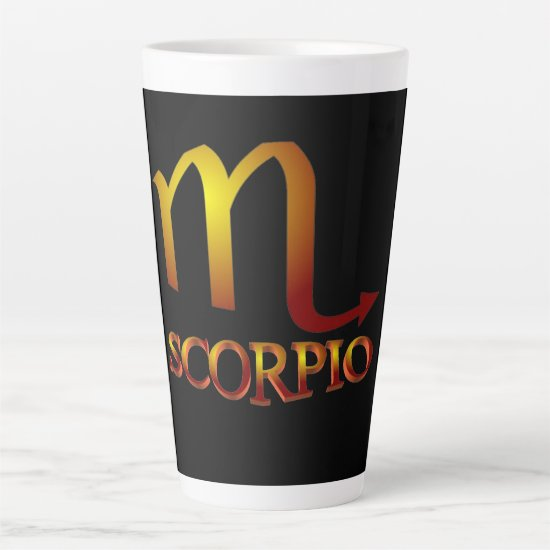 Scorpio Star Gold Latte Mug