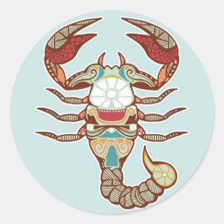 Scorpio sticker round sticker