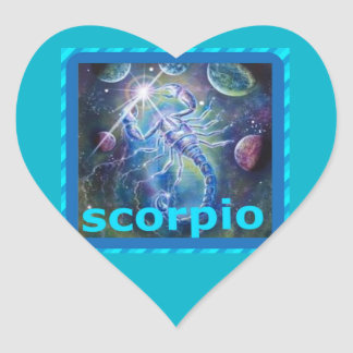 scorpio heart sticker