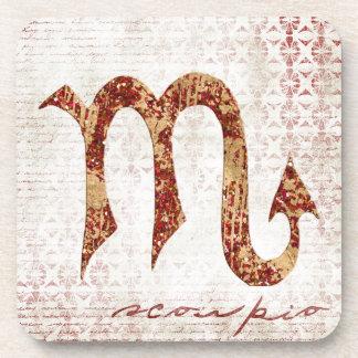 Scorpio symbol beverage coaster
