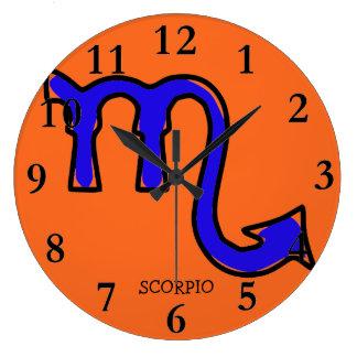 Scorpio symbol large clock