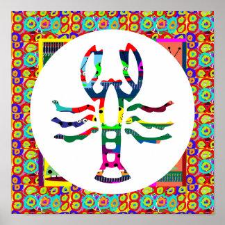 SCORPIO Symbolic Colorful Art Insect Biology Decor