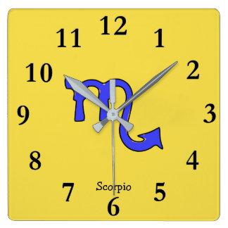 !Scorpio t Square Wall Clock