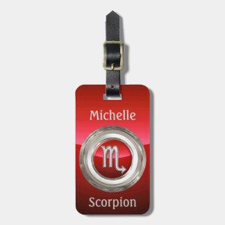 Scorpio - The Scorpion Horoscope Sign Luggage Tag