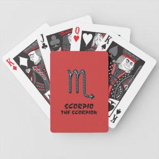 Scorpio the scorpion playing cards