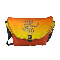 Scorpio The Scorpion Silver Zodiac Sign Messenger Courier Bag at Zazzle