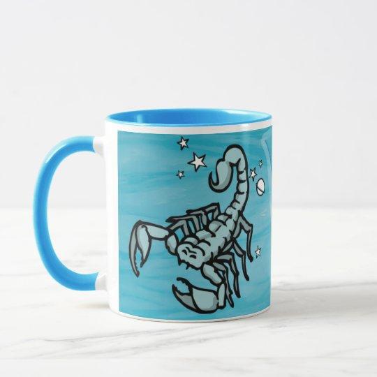 Scorpio The Scorpion water sign astrological mug