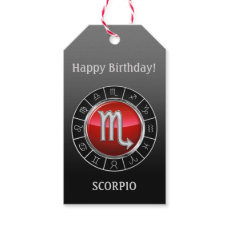 Scorpio - The Scorpion Zodiac Sign Gift Tags