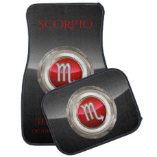 Scorpio - The Scorpion's Zodiac Symbol Car Mat