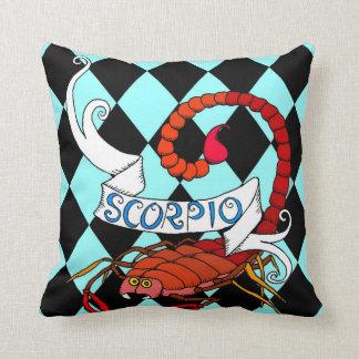 Scorpio Throw Pillow zodiac scorpion theme