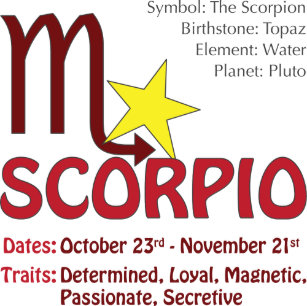 Scorpio Zodiac Traits Gifts on Zazzle