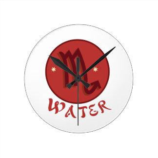 Scorpio Water Round Clock