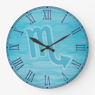 """Scorpio"" water sign zodiac clock"