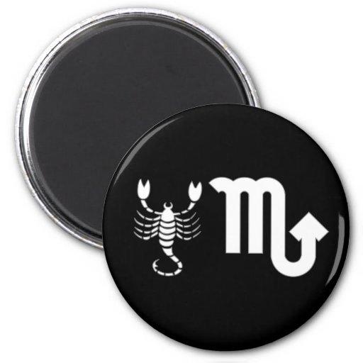 Scorpio with Symbol 2 Inch Round Magnet