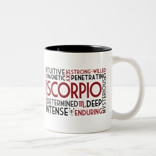 Scorpio Word Collage Mug