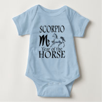 Scorpio Year of Horse Zodiac Baby Bodysuit